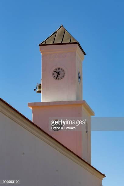 church in tejeda on gran canaria - tejeda fotografías e imágenes de stock
