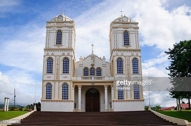 church in the town of sarchi, costa rica - ogphoto stock pictures, royalty-free photos & images