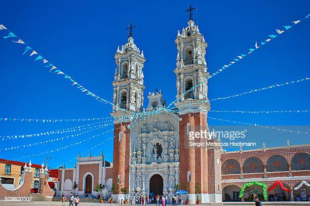 church in tlaxcala, mexico - tlaxcala stock photos and pictures