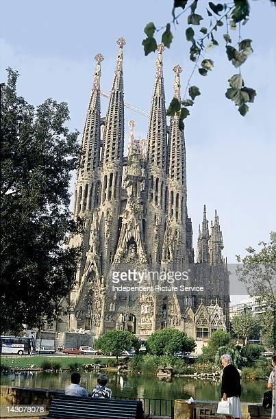 Church La Sagrada Familia, by Antonio Gaudi, Barcelona, Spain.