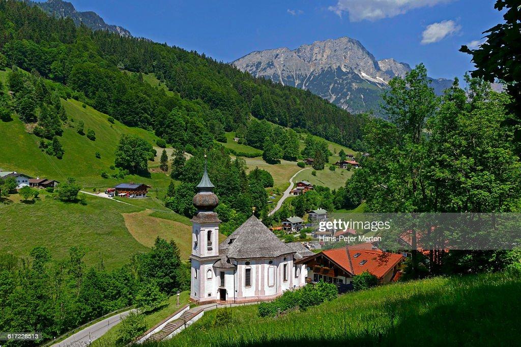 Church Maria Gern near Berchtesgaden, Bavaria : Stock Photo