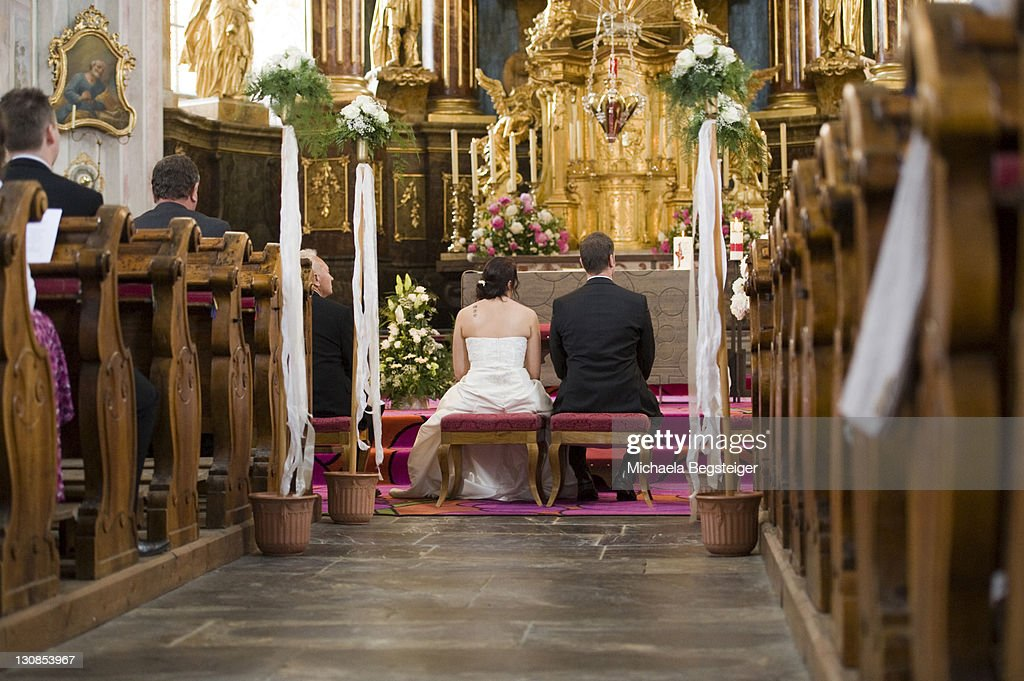 Church marriage : Stock Photo