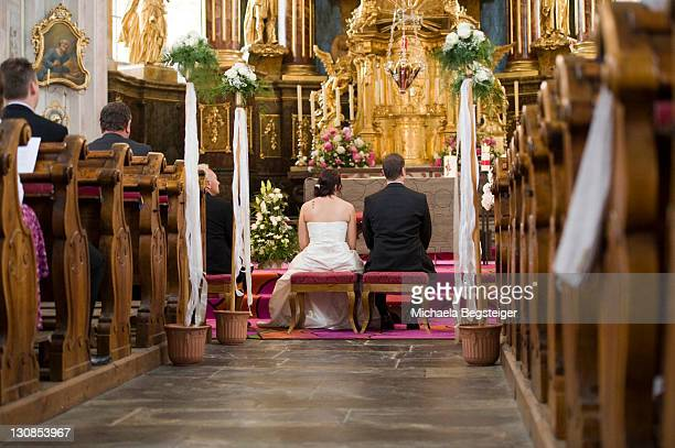 church marriage - church wedding decorations stock pictures, royalty-free photos & images