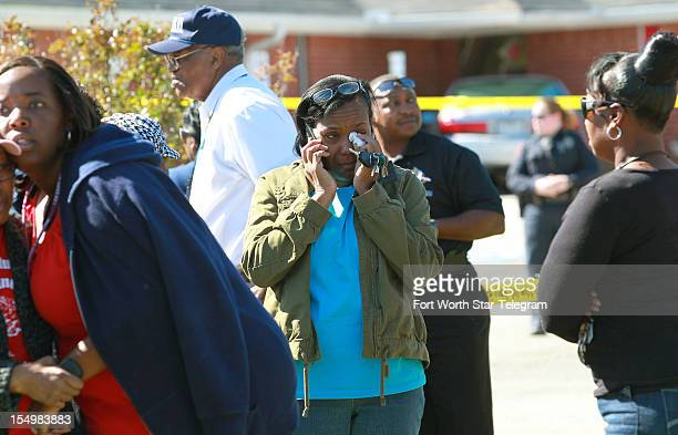 Church members react to the death of Pastor Danny Kirk Sr at the Greater Sweethome Missionary Baptist Church in Forest Hills Texas Monday October 29...