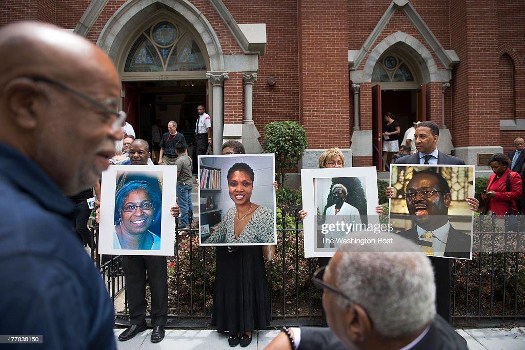 Local Prayer Vigil For Nine Slain In Charleston, SC Hate Crime : News Photo