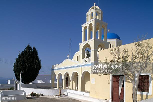 Church of Agios Georgios in Oia Santorini island Cyclades islands Greece