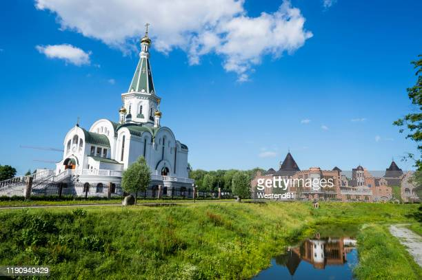church of alexander nevsky against sky at kaliningrad, russia - kaliningrad stock pictures, royalty-free photos & images