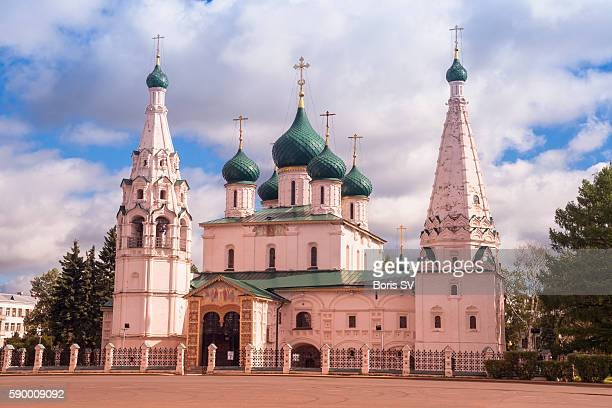 Church of Elijah the Prophet at night, Yaroslavl, Russia, Golden Ring
