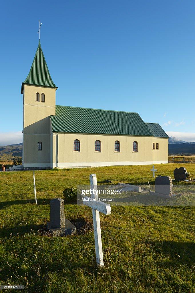 Church Of Faskrudarbakki; Faskrudarbakki, Snaefellsnes, Iceland : Stock Photo