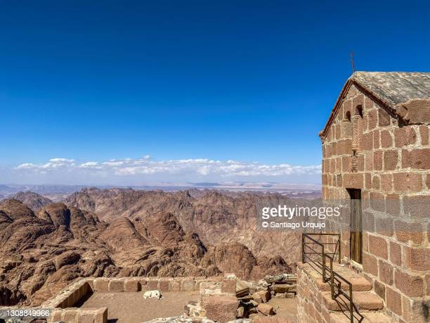 church of god at the top of mount sinai - tourism in south sinai stock pictures, royalty-free photos & images