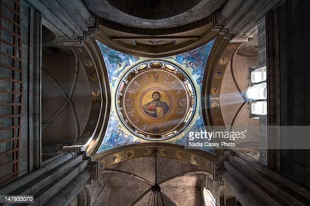 church of holy sepulchre - chiesa del santo sepolcro foto e immagini stock