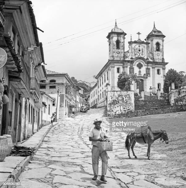 Church of immaculate conception in Ouro Preto Brazil 1966