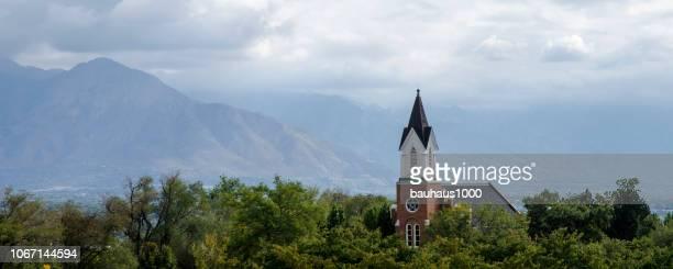 church of latter day saints in salt lake city, utah. - latter stock pictures, royalty-free photos & images