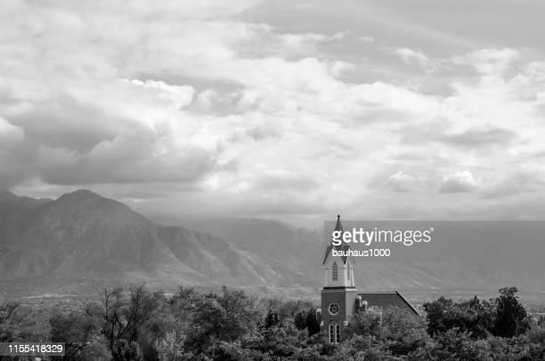 church of latter day saints in salt lake city, utah - latter stock pictures, royalty-free photos & images