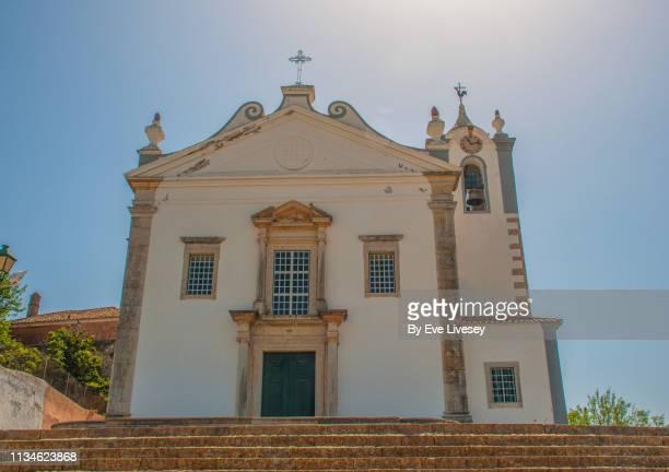 church of matriz estoi - faro city portugal stock photos and pictures