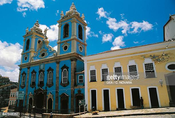 Church of Nossa Senhora do Rosario dos Pretos old district of Pelourinho Historical centre of Salvador de Bahia state of Bahia Brazil 18th century