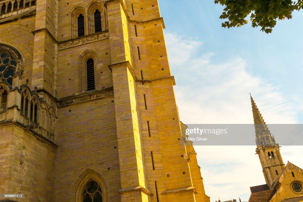 Church of Notre Dame in Dijon. : Stock-Foto