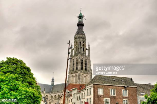 church of our lady in breda - the netherlands - breda stock pictures, royalty-free photos & images