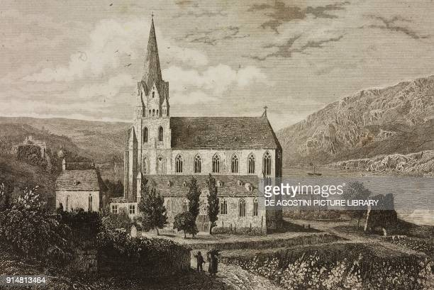 Church of Our Lady Oberwesel Germany engraving by Lemaitre and Lejeune from Allemagne by Philippe Le Bas L'Univers pittoresque Europe published by...