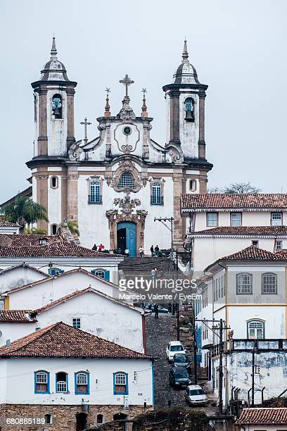Church Of Our Lady Of Carmo And Houses Against Sky