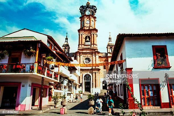 church of our lady of guadalupe, in puerto vallarta - jalisco fotografías e imágenes de stock