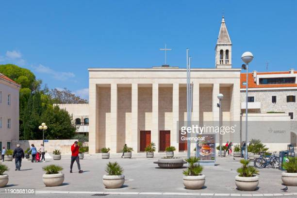 church of our lady of health in split - gwengoat stock pictures, royalty-free photos & images