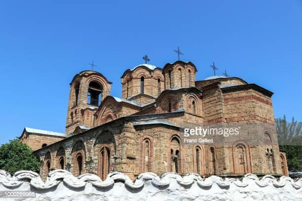 church of our lady of ljeviš, unesco world heritage (in danger), prizren, kosovo - unesco stock-fotos und bilder