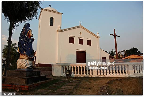 church of our lady of rosary and saint benedic - cuiabá stock photos and pictures