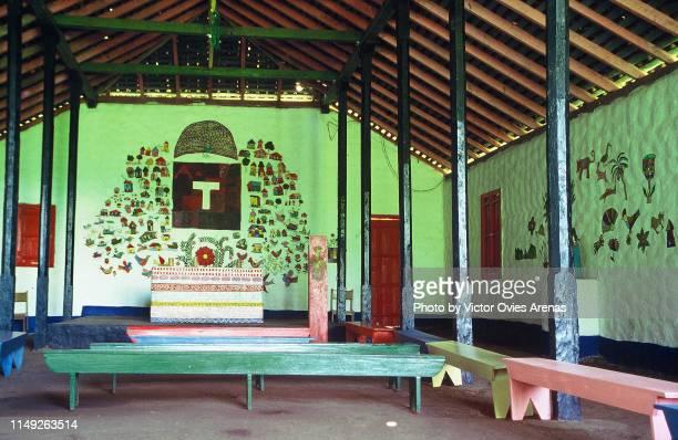 church of our lady of solentiname, macarron island, nicaragua - victor ovies fotografías e imágenes de stock