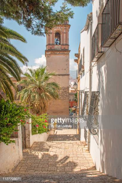 church of our lady of the assumption - denia stock pictures, royalty-free photos & images