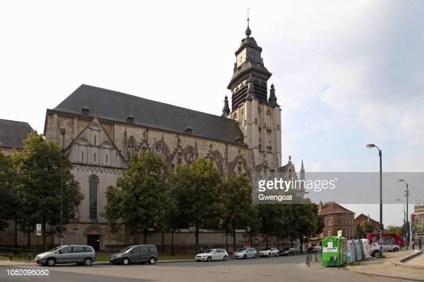 kerk van onze lieve vrouw ter kapelle in brussel - gwengoat stockfoto's en -beelden