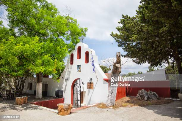 church of prophet elias - rhodes dodecanese islands stock photos and pictures