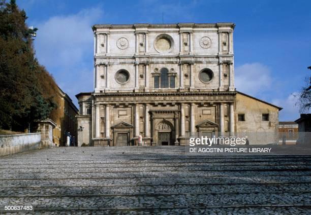 Church of Saint Bernardino of Siena with a Renaissance facade by Nicolo' Filotesio L'Aquila Abruzzo Italy 15th century