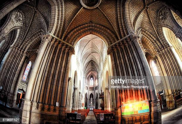 church of saint clement, nantes, france - kathedrale von nantes stock-fotos und bilder