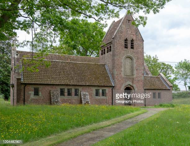 Church of Saint Edward, Kempley, Gloucestershire, England, UK, architect Randall Wells built 1903-4.