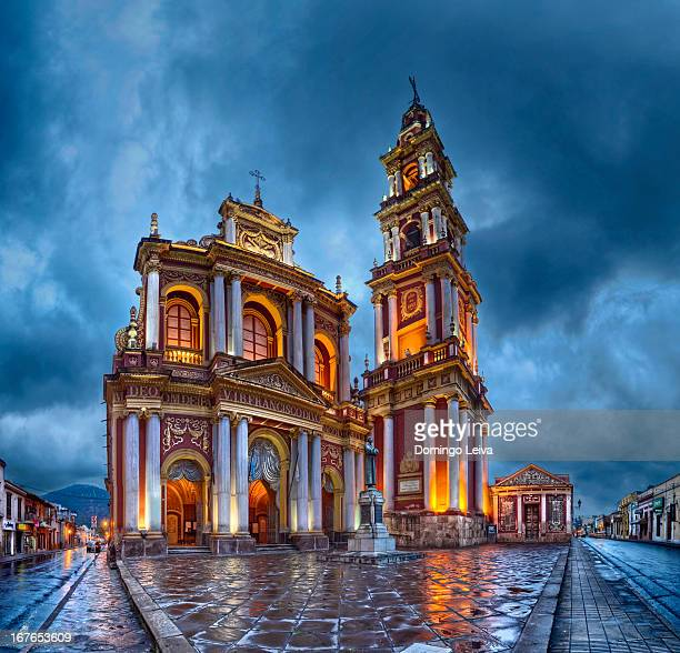 church of saint francis in the city of salta - salta argentina stock photos and pictures