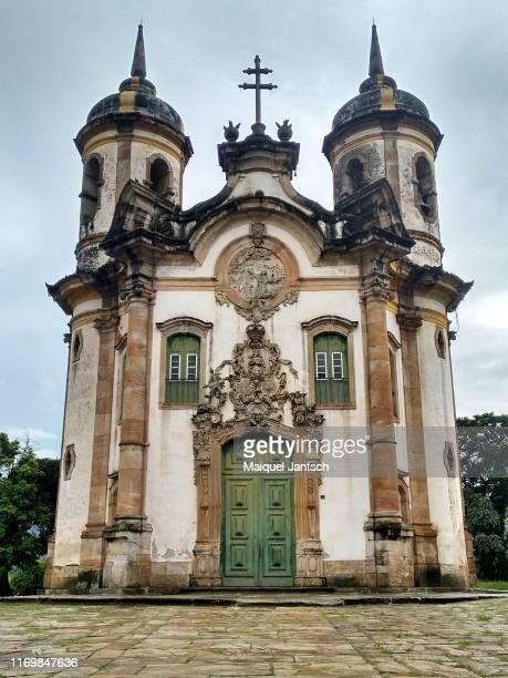 church of saint francis of assisi (igreja de são francisco de assis) in ouro preto - minas gerais state - brazil - assis ストックフォトと画像