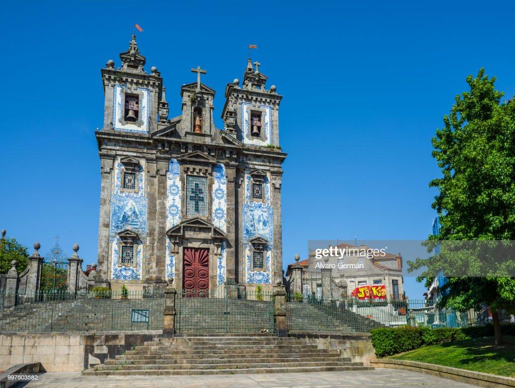 Church of Saint Ildefonso in Porto, Portugal. : ストックフォト