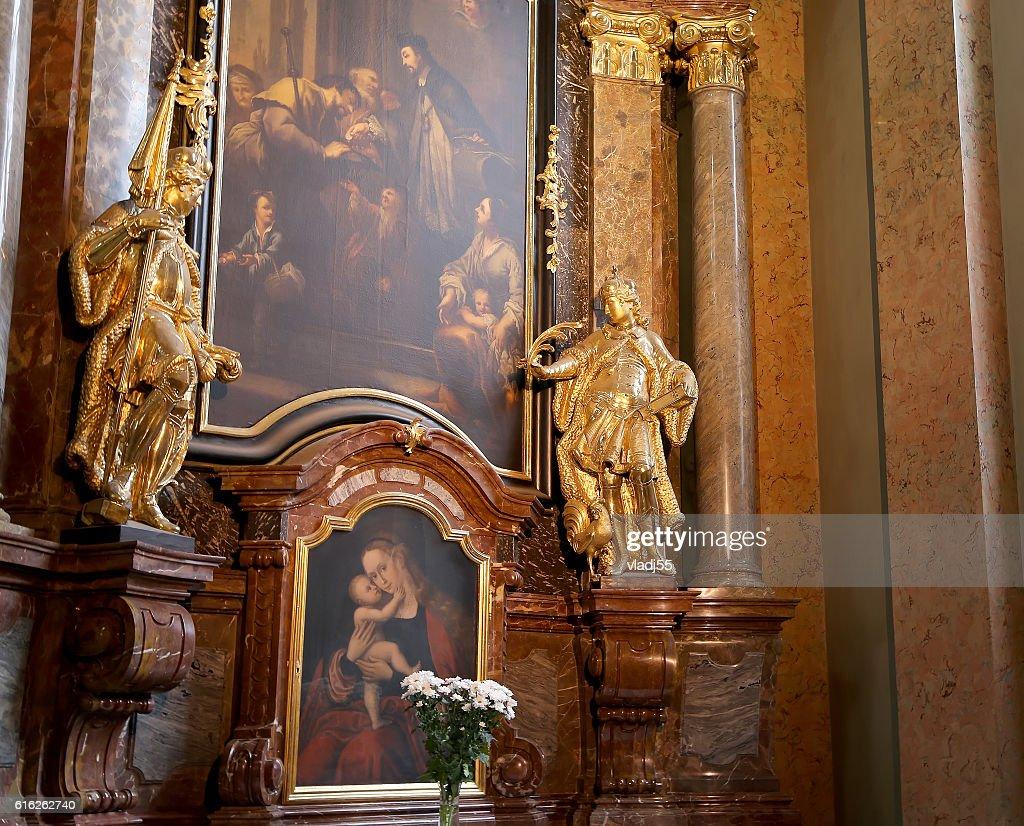 church of Saint Nicholas in Prague, Czech Republic : Foto de stock