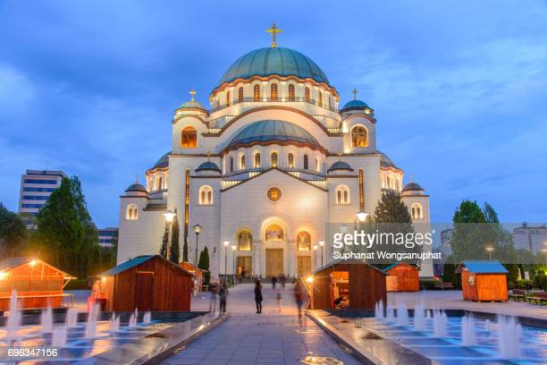 church of saint sava - servië stockfoto's en -beelden