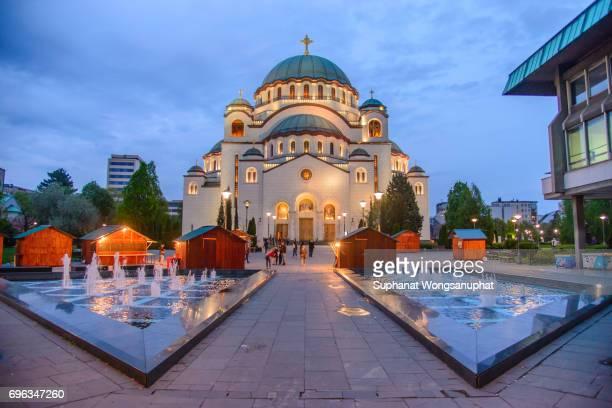church of saint sava - belgrade serbia stock photos and pictures