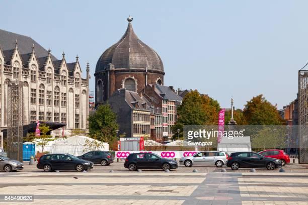 igreja de saint-andré, em liège - liege - fotografias e filmes do acervo