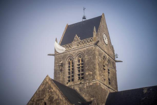 Church of Sainte-Mère-Église, Normandy in France