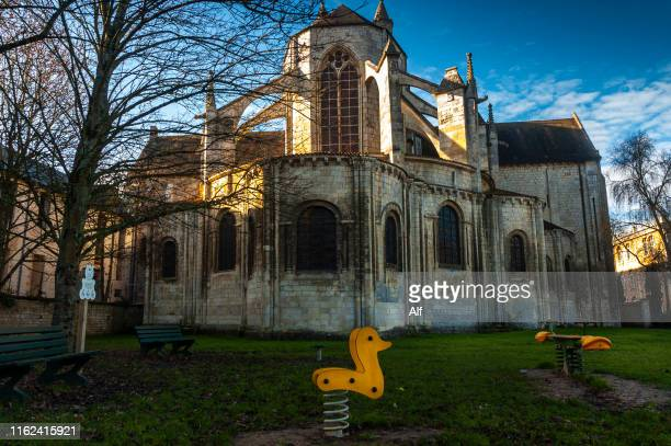 church of saint-jean de montierneuf in poitiers, nouvelle-aquitaine, france - ポワティエ ストックフォトと画像