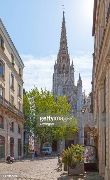 church of saint-maclou in rouen - rouen stock pictures, royalty-free photos & images
