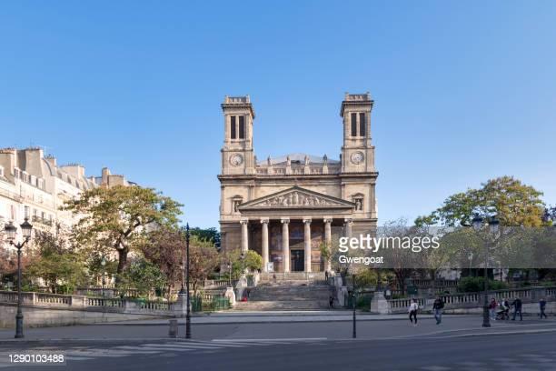 church of saint-vincent-de-paul in paris - gwengoat stock pictures, royalty-free photos & images