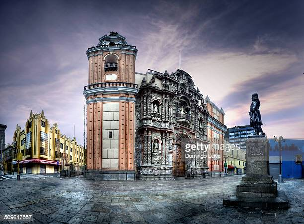 church of san agustin, lima, peru - lima stock pictures, royalty-free photos & images