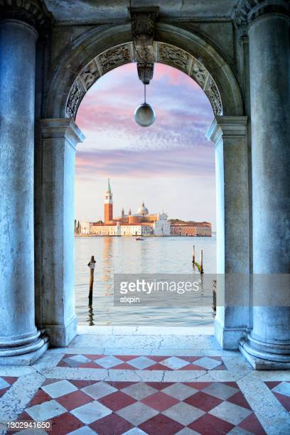 church of san giorgio maggiore, venice - venice italy stock pictures, royalty-free photos & images