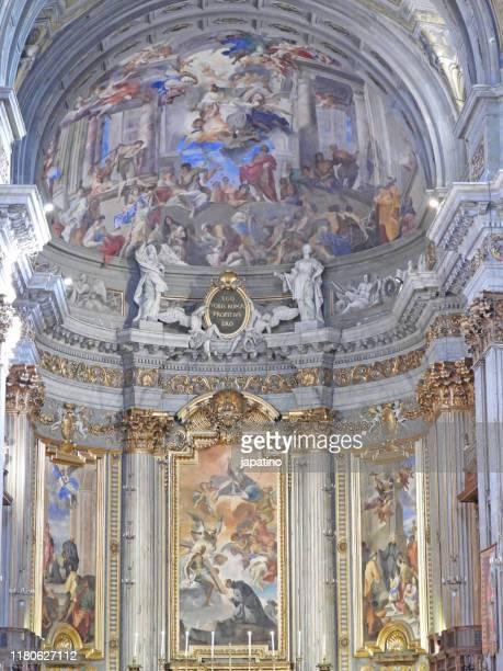 church of san ignacio de loyola. - fresco stock pictures, royalty-free photos & images