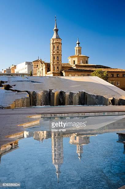 church of san juan de los panetes in zaragoza, spain. - aragon fotografías e imágenes de stock